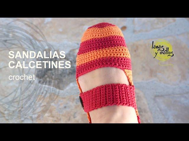 Sandalias Español Tutorial O Pantuflas — En Crochet Ganchillo Myvideo WeID9H2YE