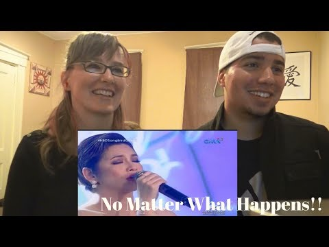 MOM & SON REACTION! Regine Velasquez No Matter What Happens (Barbra Streisand) (Songbird Saturday)