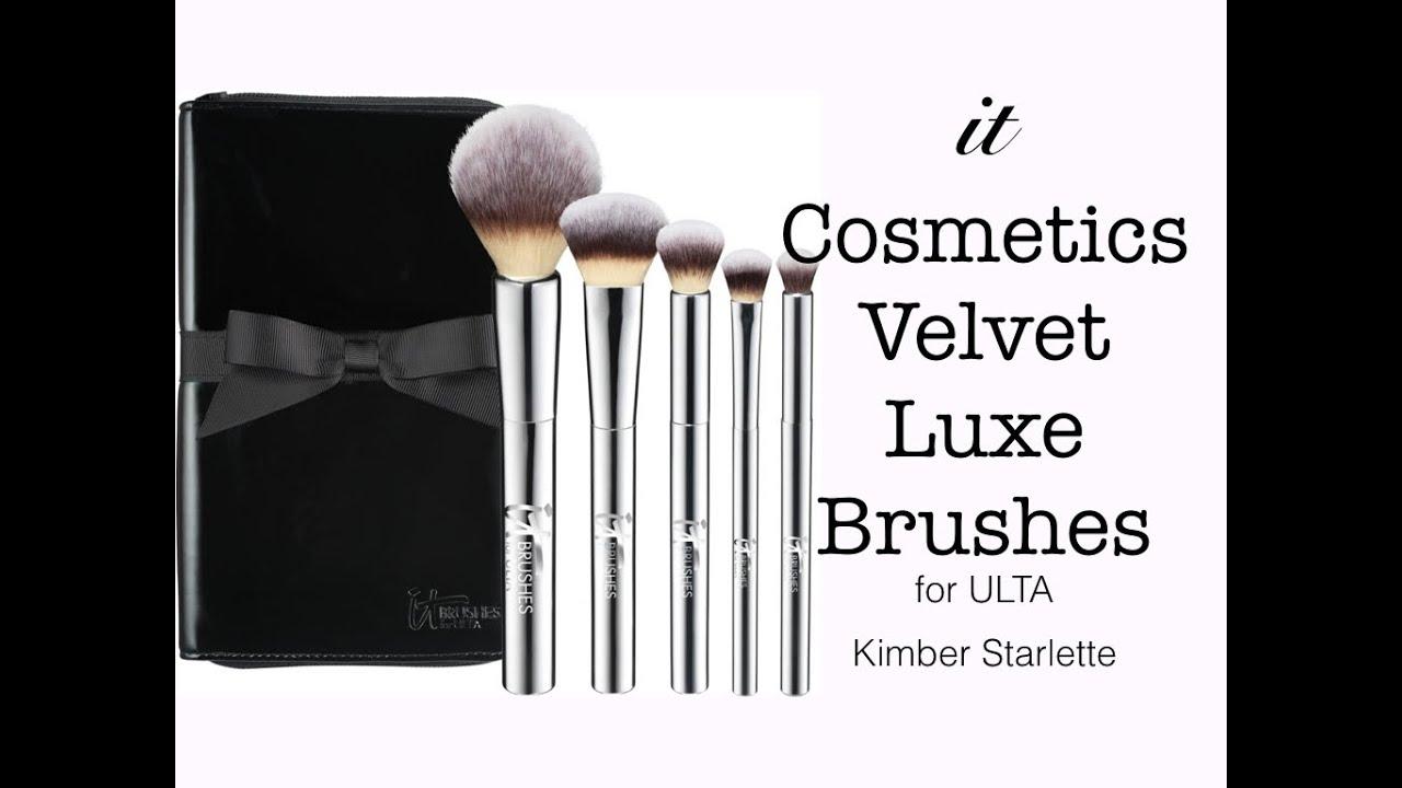 ulta makeup brushes. it cosmetics velvet luxe brushes- $100 makeup brushes:   kimber starlette ulta brushes