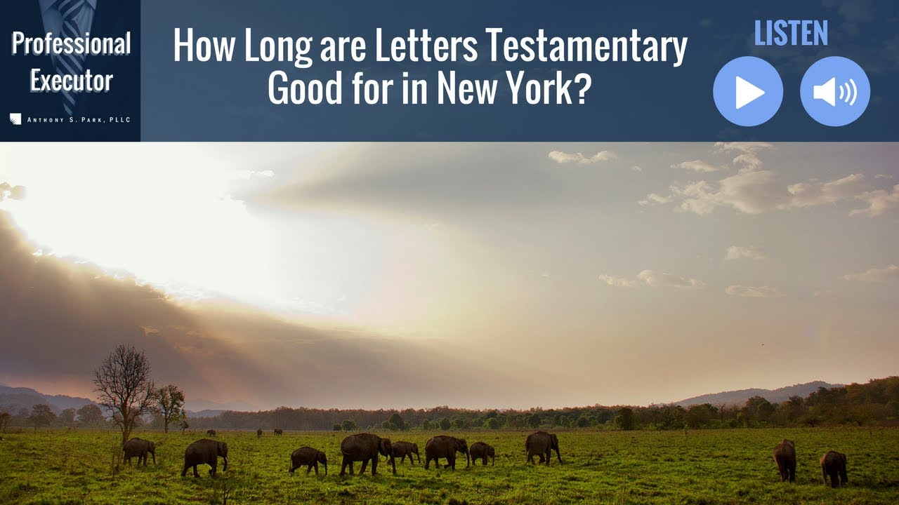 how long are letters testamentary good for in new york