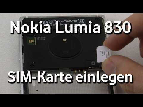 nokia lumia 830 vodafone sim karte einlegen youtube. Black Bedroom Furniture Sets. Home Design Ideas