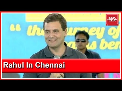Rahul Gandhi Interacts With Students In Chennai, Oppn Leaders Attend Rally