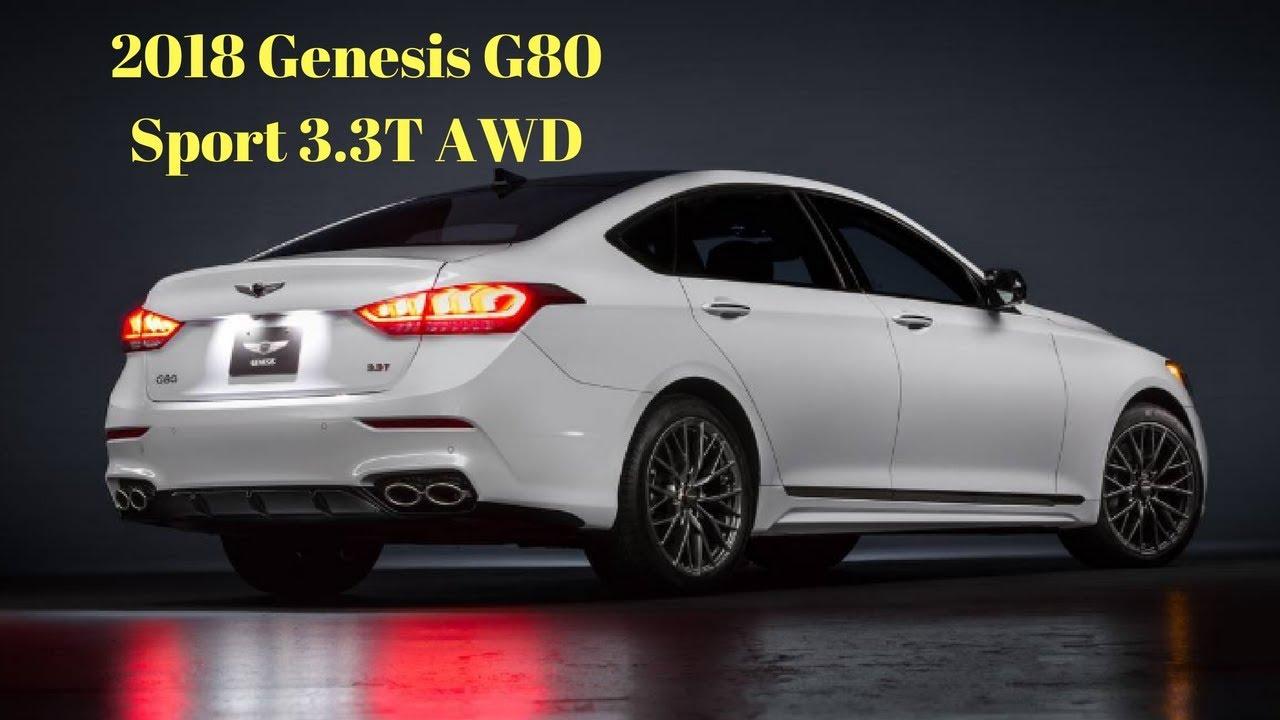 2018 Genesis G80 Sport 3 3t Awd Review