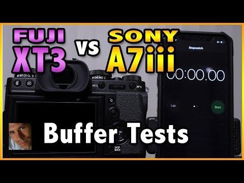 Fuji XT3 vs Sony A7iii Buffer Performance Test