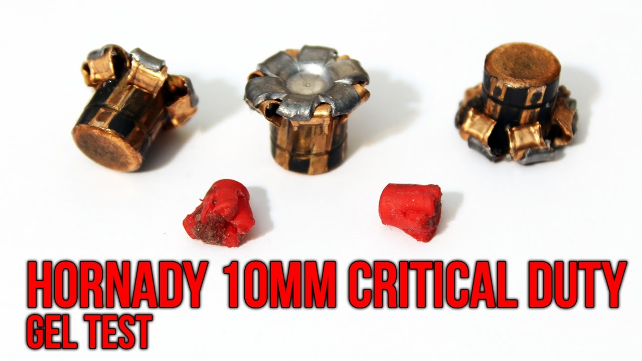 Hornady 10mm 175 gr Critical Duty FlexLock Gel Test Review