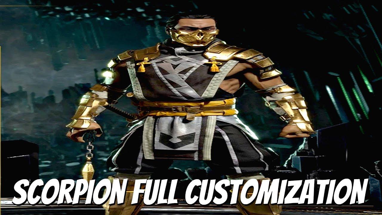 mortal kombat 11 scorpion all costumes