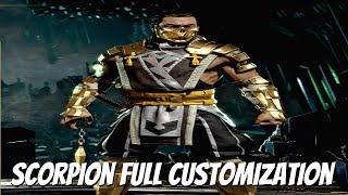 MORTAL KOMBAT 11 - Full Scorpion Customization, All Costumes Weapons & More (MK11 2019) PS4 Pro