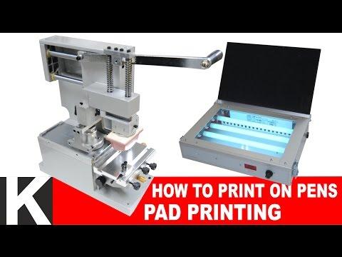 How to print on pens // Pad Printing tutorial - Tampografica DIY