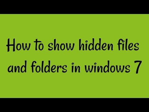 how to create hidden file in windows