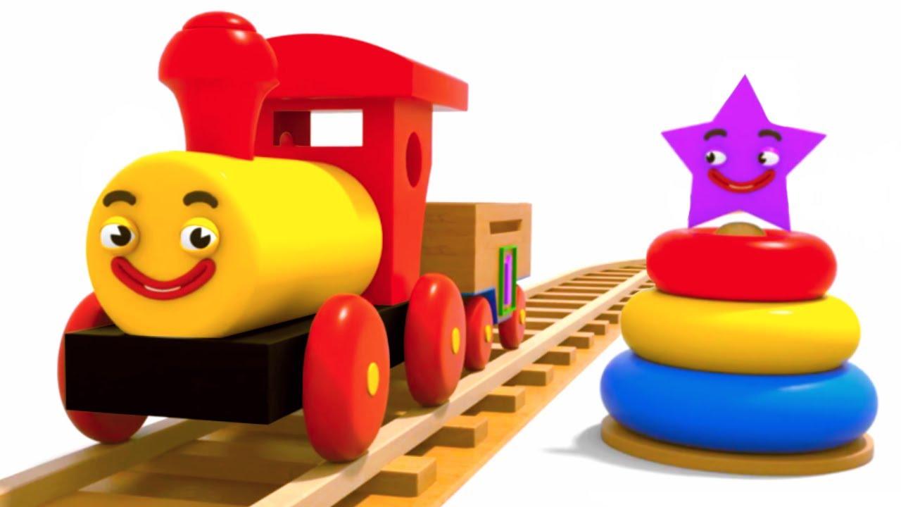 Мультик для малышей - Учим фигуры с паровозиком Тино