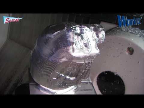 NCデータ - CAD/CAMシステムWorkNCによるロボットヘッド(タミーネーターのような)加工