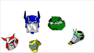 Transformers animated paintings - Autobots heads