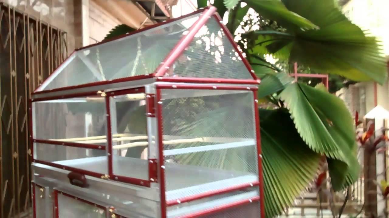 Gran jaula doble para loros y aves peque as youtube for Jaulas para cria de peces