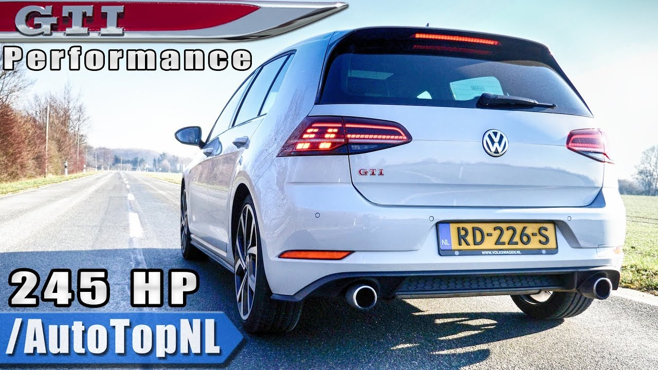 vw golf gti 2019 performance exhaust sound revs onboard by autotopnl