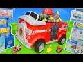 Paw Patrol Unboxing: Fire Truck, Mighty Pups Chase, Ryder & Fireman Marshall Toys for Kids