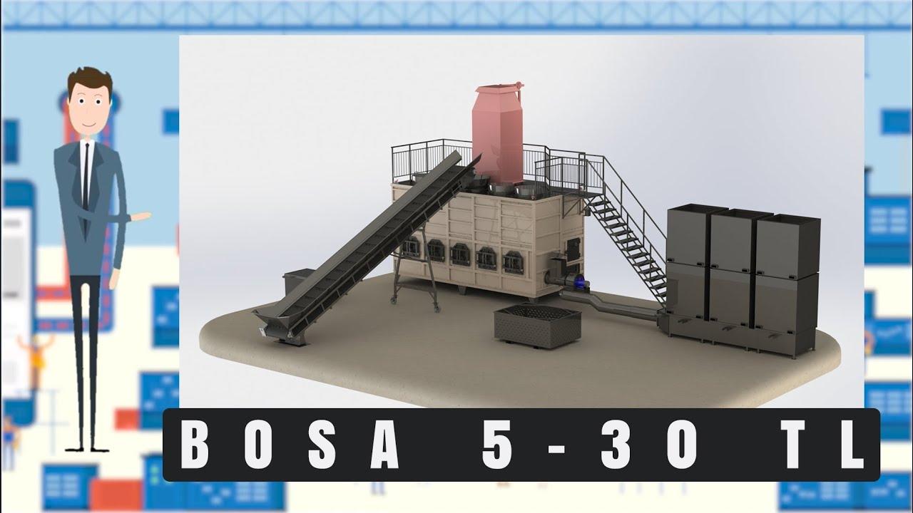 Углевыжигательная печь || BOSA 5-30 TL