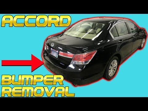 2008 2009 2010 2011 2012 Honda Accord Rear Bumper Removal Replace Install How to Remove