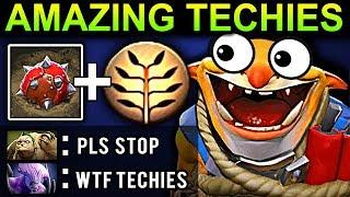 AMAZING TECHIES 100% DAMAGE - DOTA 2 PATCH 7.07 NEW META PRO GAMEPLAY