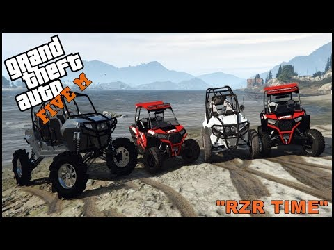 GTA 5 ROLEPLAY - RZR ON TRACTOR TIRES OFFROADING! - EP. 279 - CIV