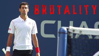 "Most ""BRUTAL"" Game in Tennis History (Djokovic & Wawrinka Go To WAR 