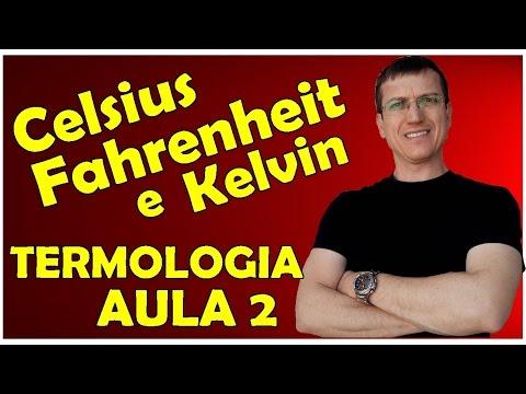 ESCALAS CELSIUS - FAHRENHEIT - KELVIN - TERMOLOGIA - Aula 2 - Prof.  Boaro