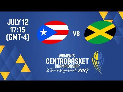Puerto Rico vs Jamaica - Full Game - Women's Centrobasket Championship 2017
