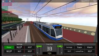 roblox / transport simulator 2018 a quick video of me driving a tram