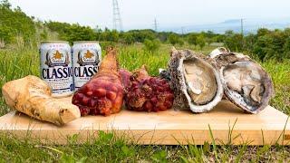 函館の絶景を見ながらグロテスクで超美味い海の幸とビールで乾杯しよう