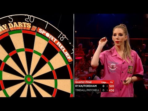 Katherine Ryan throws her first darts - Let's Play Darts for Sport Relief: Episode 1 - BBC Two