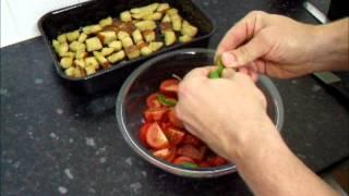Panzanella Bread Tomato Onion & Basil Salad Recipe How To Make Italian Food