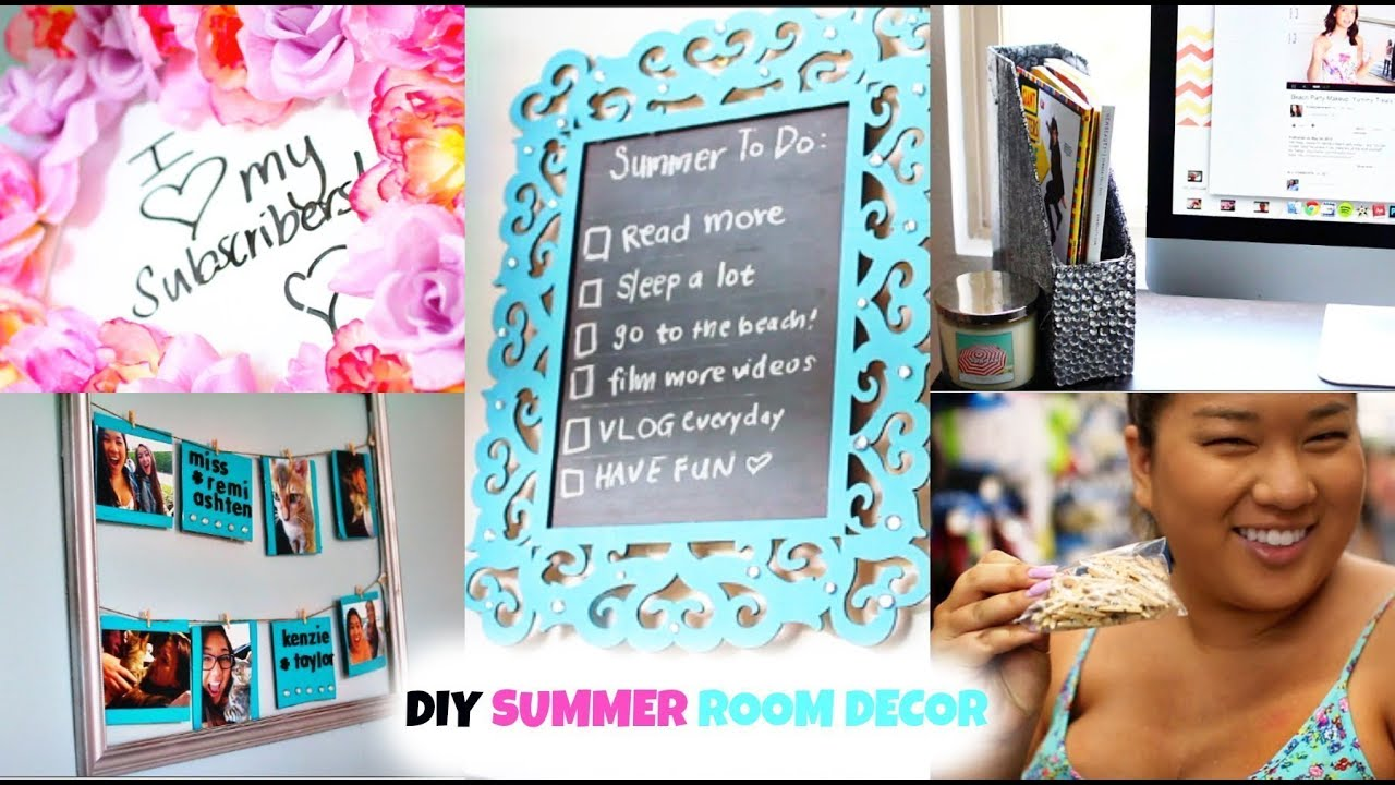 diy summer room decor! easy & affordable! ♡ #diywithremi - youtube