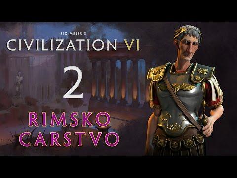 Civilization 6 Srbija Balkan | Rimsko Carstvo 2. deo | Srb, Cro, BiH