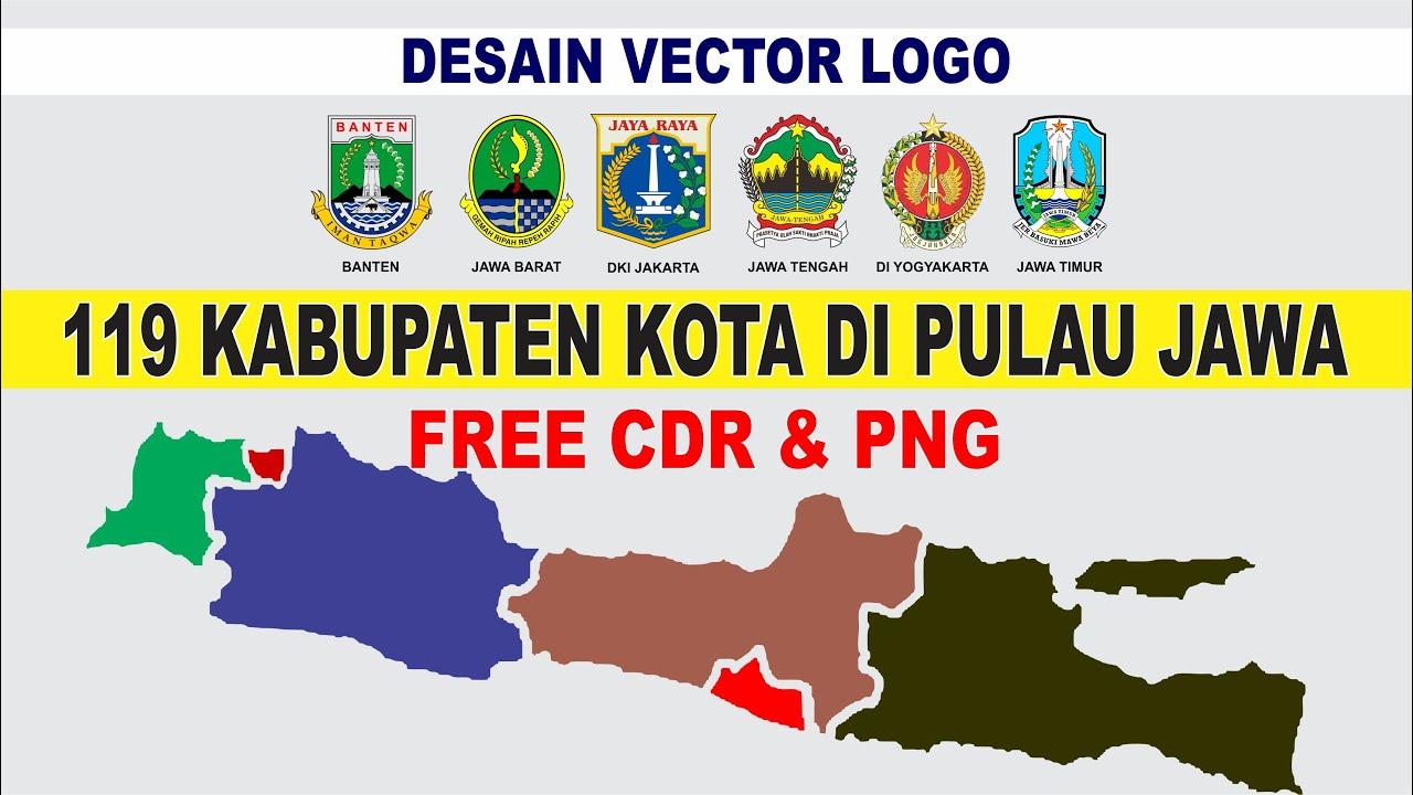 Desain 119 Vector Logo Kabupaten Kota Di Pulau Jawa Free Cdr Png Vector Logo Design Youtube