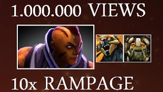 Dota 2 REACTION to MY 1Million Views 10 RAMPAGES Ability Draft Video