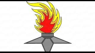 Как поэтапно нарисовать вечный огонь: инструкция от EvriKak(Предлагаем пошаговую инструкцию как рисовать вечный огонь. Фото и текстовая инструкция у нас на сайте:..., 2016-02-23T10:28:53.000Z)
