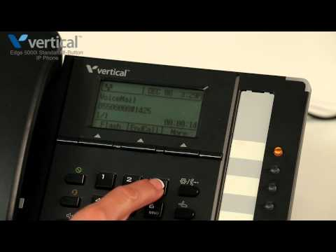 How do I access voicemail on the Edge 5000i 8 button IP phone