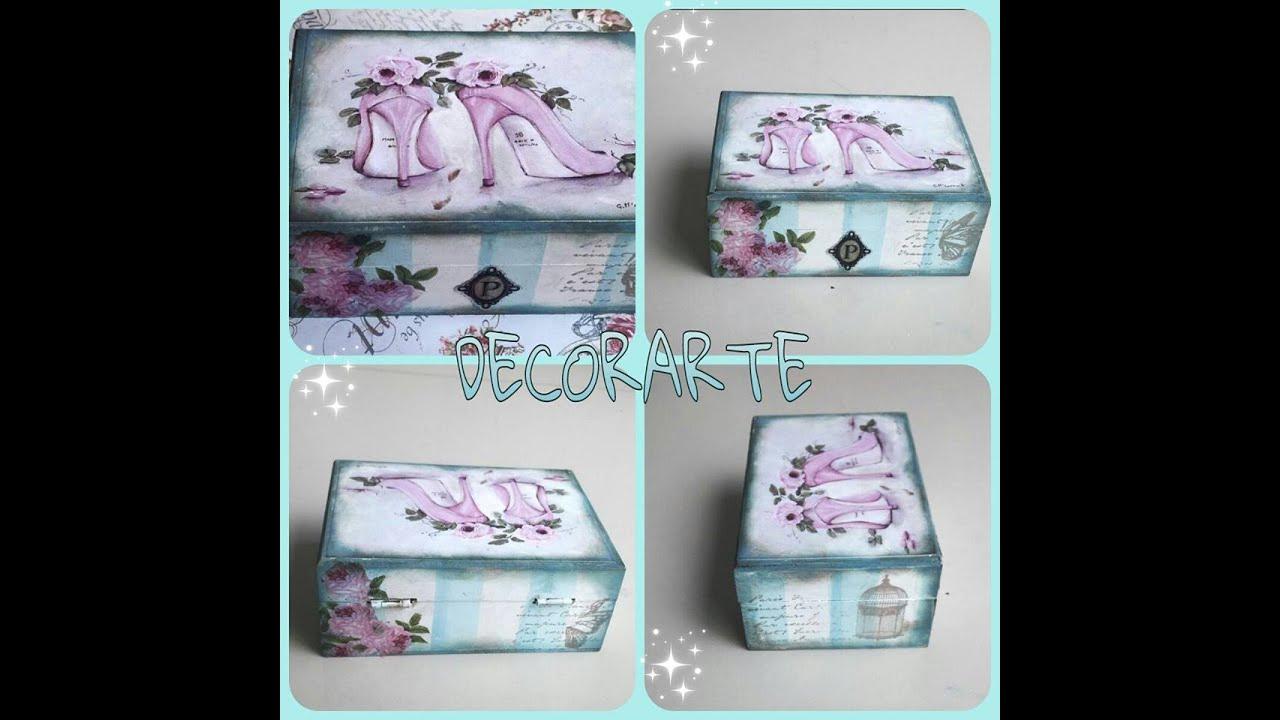 Mixed media caja vintage t cnica simplificada youtube - Como decorar cajas de madera estilo vintage ...