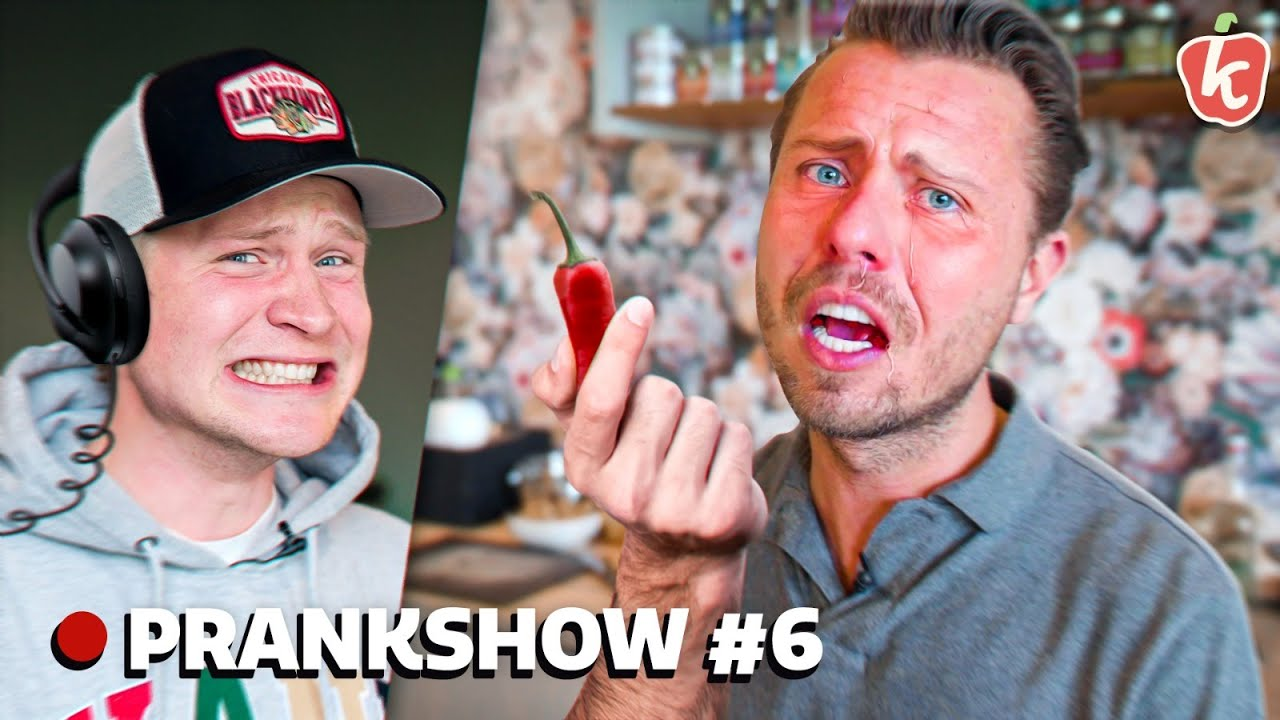 PRANK: SONNY (TEMPTATION) EET HEETSTE PEPER (ZONDER DAT HIJ HET DOOR HEEFT) - Prankshow #6 | Kalvijn