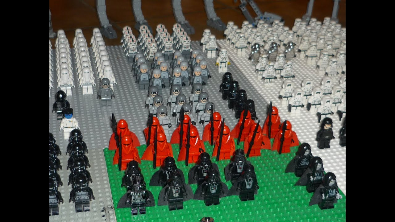 lego star wars imperial army big empire legion - youtube
