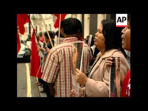 WRAP Suu Kyi supporters demonstrate in UK and France