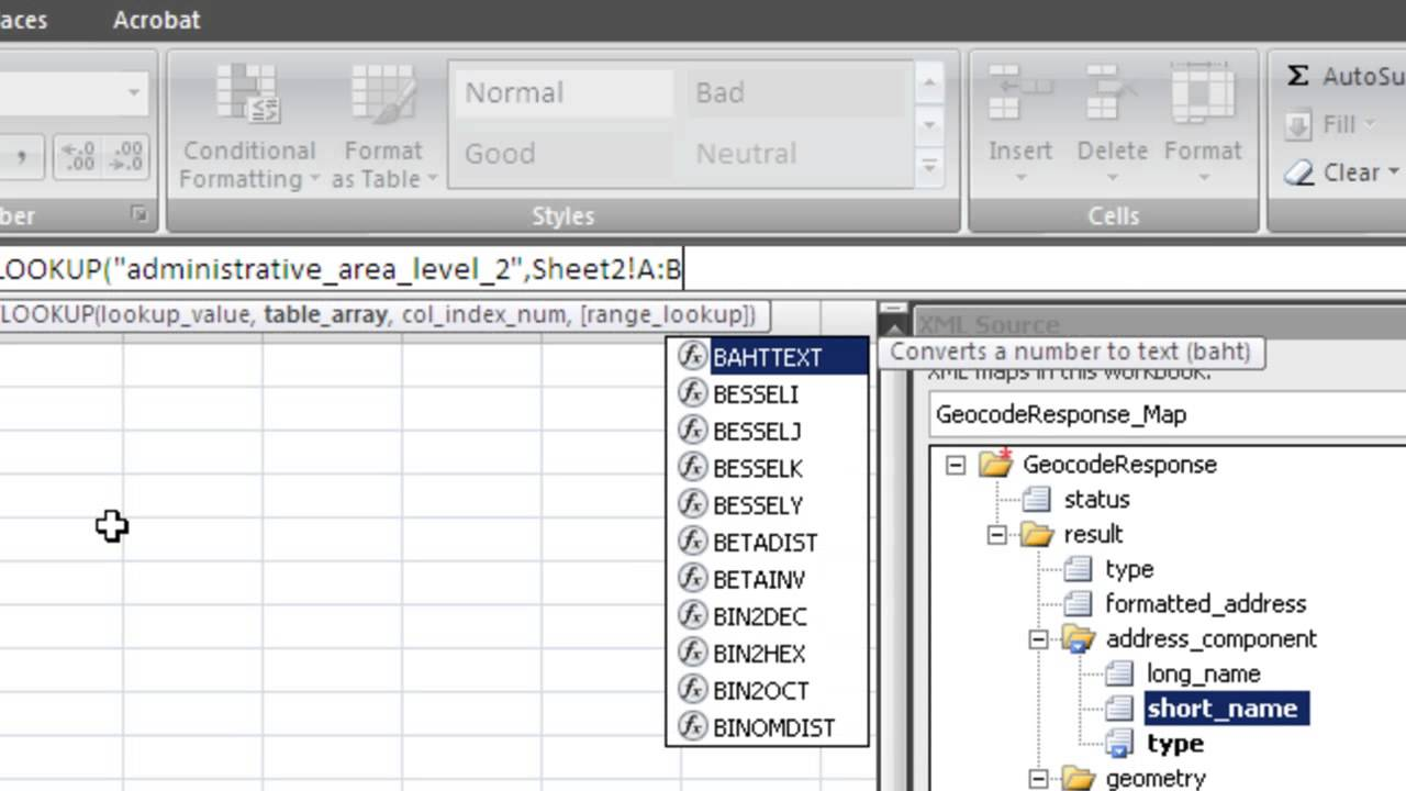 Excel VBA - Easily parse XML data from a file or website using XML Maps