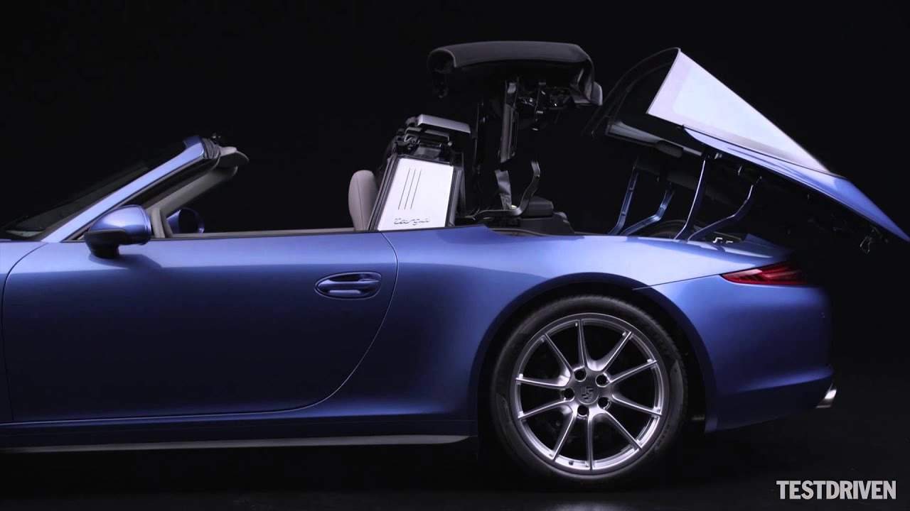 2014 Porsche 911 Targa Roof Operation Youtube