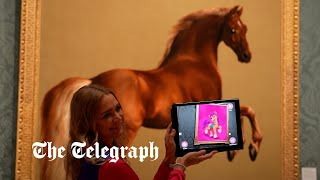 video: Purists bridle as National Gallery's equine masterpieces come to life as My Little Pony characters