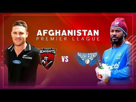 APL 2018 M5: Balkh Legends v Kandahar Knights Live Stream, Afghanistan Premier League - APLT20