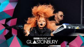 Janet Jackson performs Rhythm Nation at Glastonbury 2019. Visit bbc...