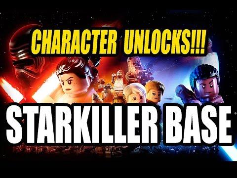 LEGO Star Wars The Force Awakens | ALL Starkiller Base Carbonite Character Unlocks