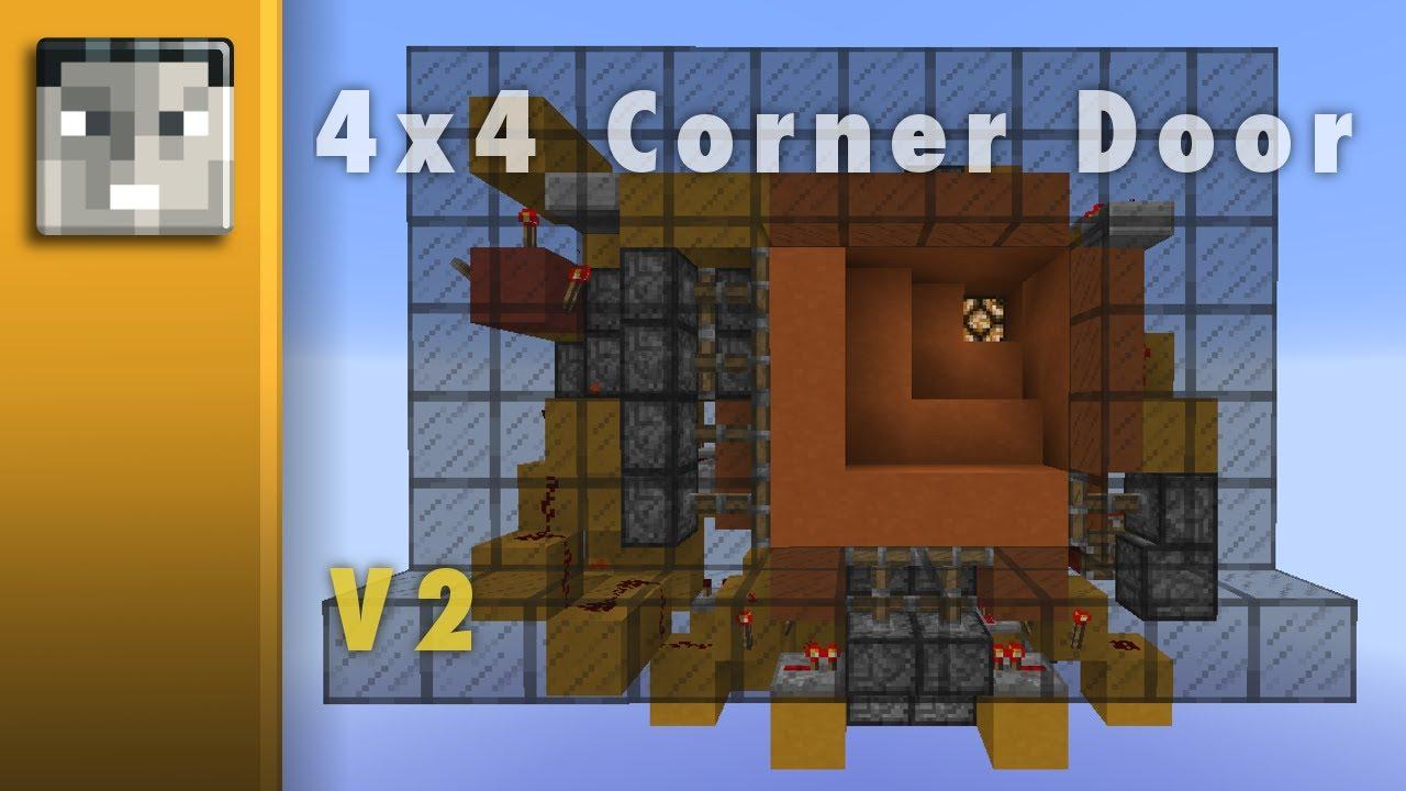 Minecraft 1.7+ Seamless 4x4 L& Corner Door (Showcase/Tutorial) - YouTube & Minecraft 1.7+: Seamless 4x4 Lamp Corner Door (Showcase/Tutorial ...
