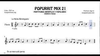 21 de 30 Popurrí Mix Partituras de Flauta La Reina Berenguela En un mercado persa Arroz con Leche