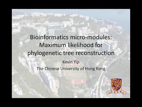 12. Maximum likelihood for phylogenetic tree reconstruction
