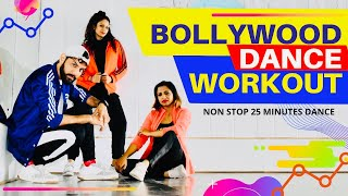 Bollywood Dance Fitness Workout At Home | 25 Minutes Fat Burning Cardio | FITNESS DANCE With RAHUL